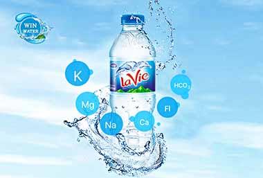 Lavie là sự kết hợp tuyệt vời giữa nguồn nước trong lành với 06 loại khoáng thiên nhiên