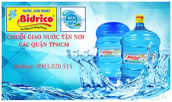 Nước uống đóng bình Bidrico 20 lít - nước tinh khiết giá bình dân