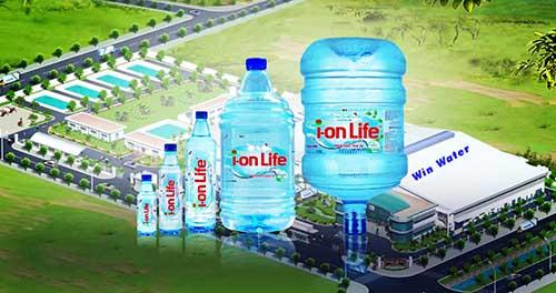Sản phẩm nước Ion Life chính hãngtại Win Water luôn đa dạng : Bình 20 lít, chai 350ml, chai 500ml