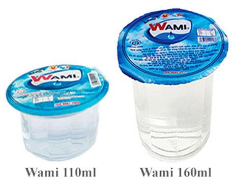 Nước suối ly Wami hiện đang có bán trên thị trường có 2 loại dung tích
