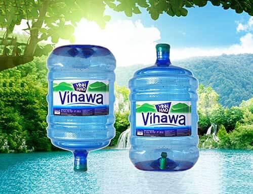 Vihawa là loại nước tinh khiết không khoáng đựng trong bình lớn 20 lít