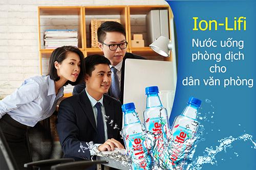Nước uống kiềm Ion-Life mùa dịch cho dân văn phòng