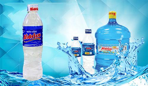 NướcBidrico đa dạng dung tích, nước tinh khiết chất lượng nhất