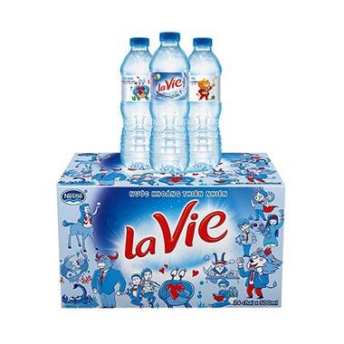Thùng nước khoáng Lavie chai 500ml