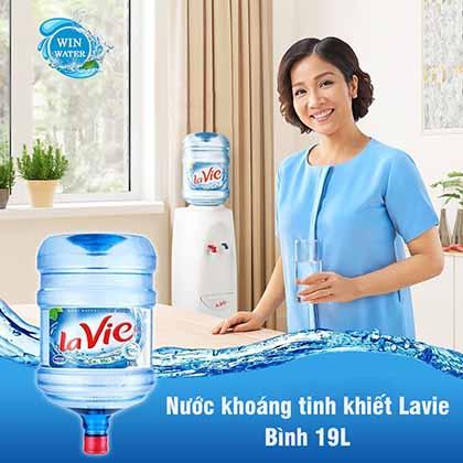 Lavie là nước khoáng tinh khiết đến từthiên nhiên, an toàn cho sức khỏe