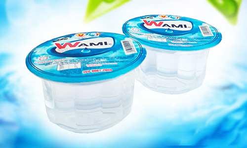 Nước suối ly Wami nhỏ gọn, sang trọng thích hợp cho hội họp, sự kiện, hội nghị, các sự kiện, event
