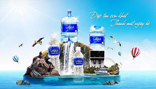 Nước uống Laska tinh khiết đến từng giọt nước