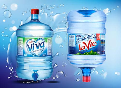 Nước khoáng Lavie bình 19L và nước tinh khiết đóng bình Lavie Viva 18,5L