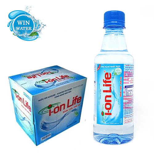 1 Thùng nước Ion Life 330ml có 24 chai tiện dụng