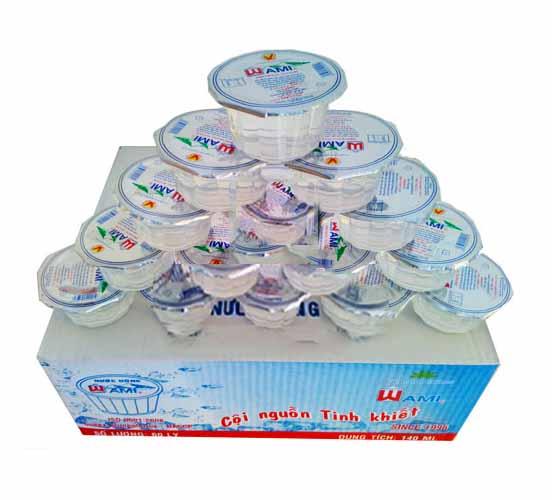 Nước suối hộp nhỏ Wami 110ml giá bán 100.000vnđ 1 thùng 60 ly